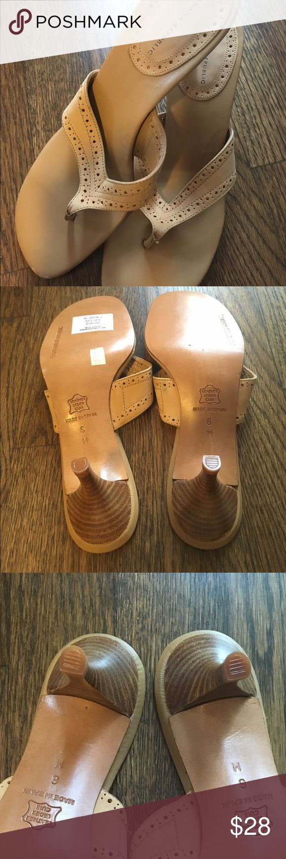 Banana Republic tan sandals Open toe sandals with 1/2 inch heel. Worn for demo once. Banana Republic Shoes Sandals