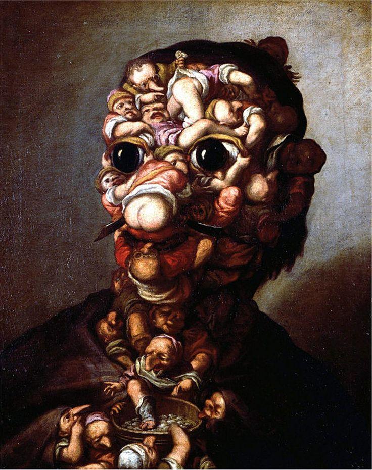 Bambocciata de pygmées, par  Faustino Bocchi