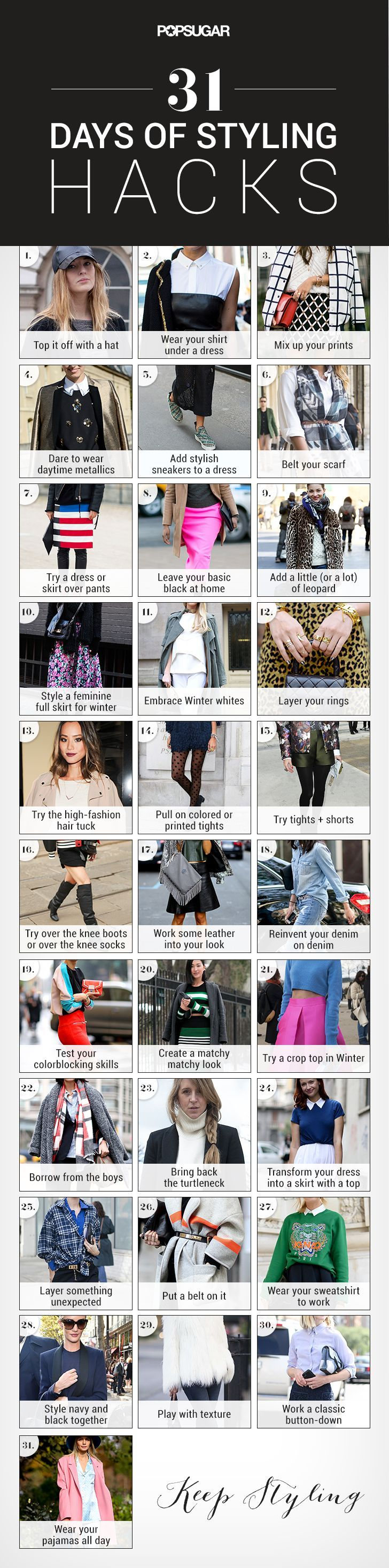 31 hacks to change up your style, something fun to try this week!