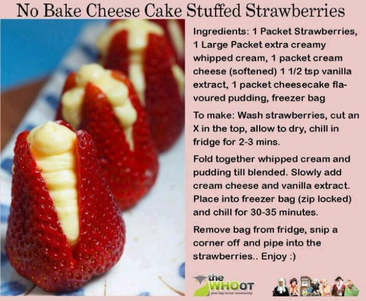 No bake strawberry cheesecake | Cookies Cakes & Sweets | Pinterest