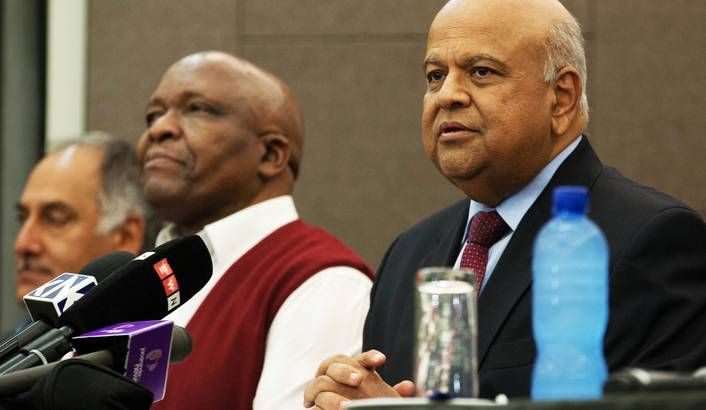 Photo of Pravin Gordhan by Greg Nicolson.