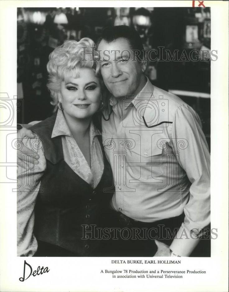 "1992 Press Photo Delta Burke & Earl Holliman in ""Delta"" - nop12339"