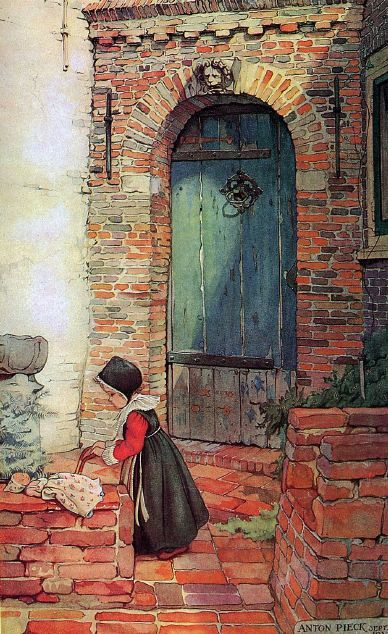 """title unknown"" by anton pieck c. 1895-1987. We have lots of Anton Pieck pictures hanging in our house. They show everyday scenes from Dutch life (he was a Dutch artist) in a  most simple but pleasing style."