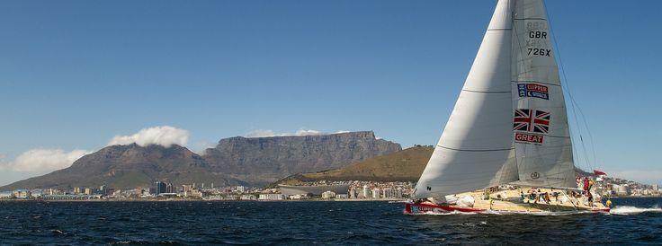 Leg 2 winners GREAT Britain arriving in Cape Town