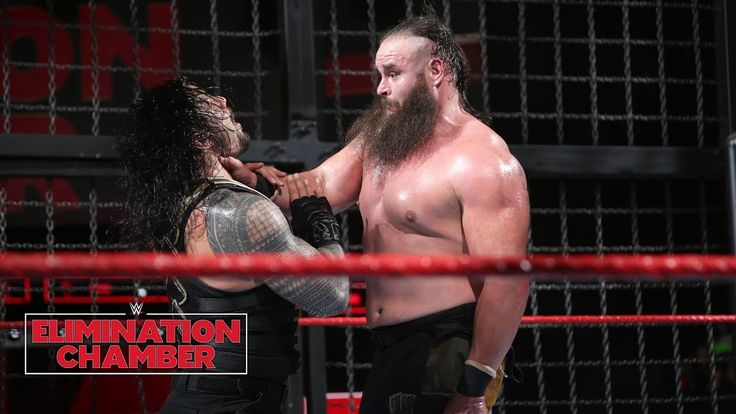 Braun Strowman leaves a path of destruction: WWE Elimination Chamber 2018 (WWE Network Exclusive)  ||  John Cena, Roman Reigns, Seth Rollins, Finn Bálor and Intercontinental Champion The Miz struggle to find a way to bring down The Monster Among Men: Courtesy ... https://www.youtube.com/watch?v=M_GBetBpsgM