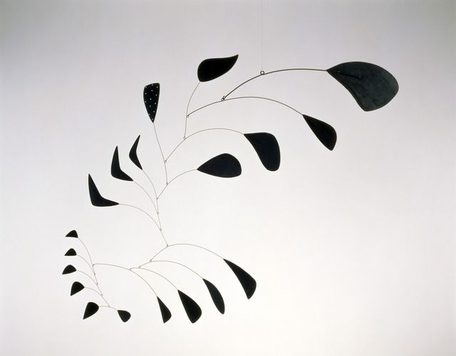 Alexander Calder, Vertical Foliage, 1941. Sheet metal, wire, and paint. Courtesy Pace Gallery