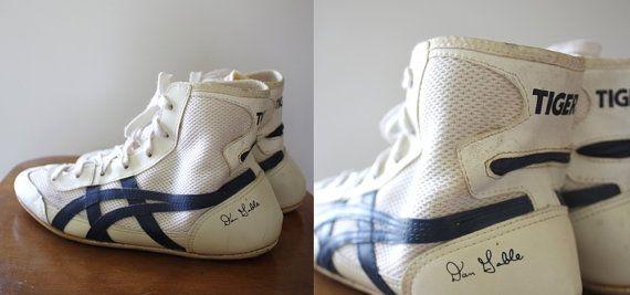 asics old school wrestling shoes