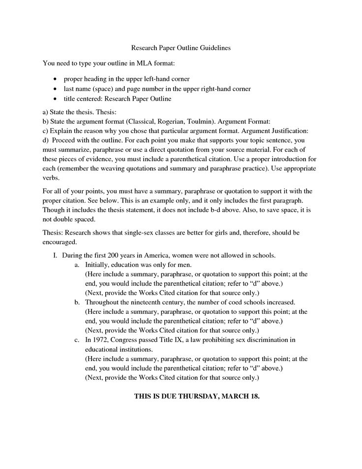 Proper way to outline a research paper STEP 4 MAKE A TENTATIVE - research paper outline