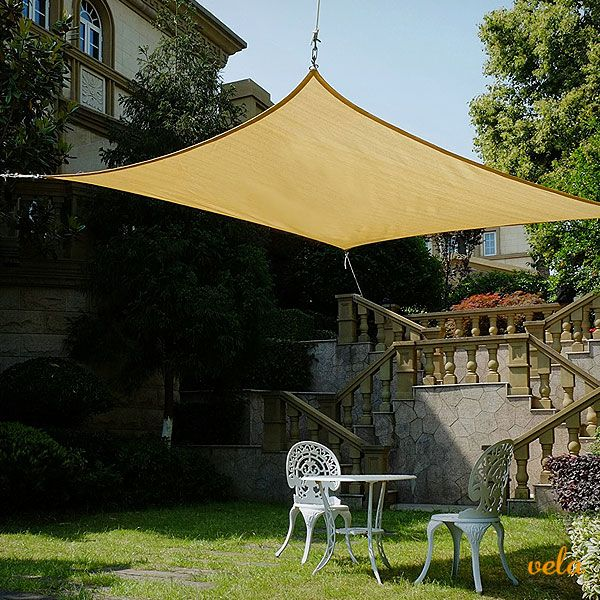 Toldo vela rectangular para jardín y terraza con protección uv Echa