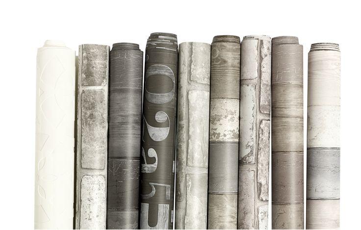 Varied wallpaper #vtwonen #magazine #interior #collection #wallpaper #grey #white