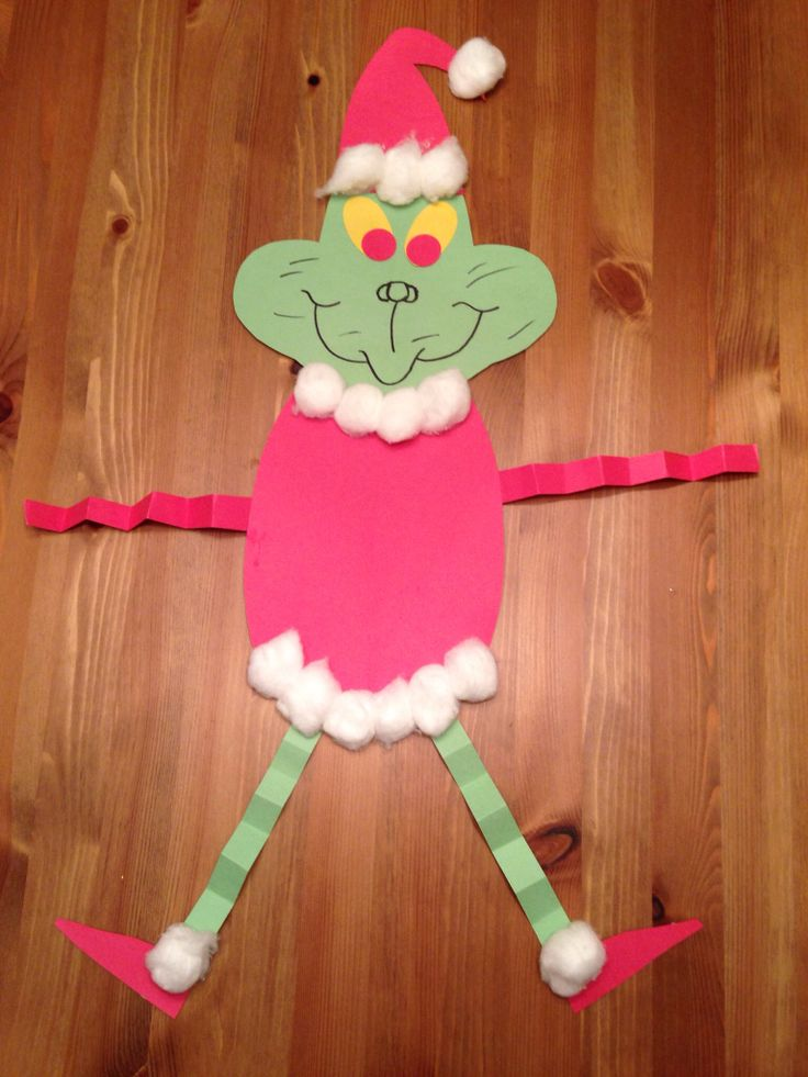 How the Grinch Stole Christmas Craft. - Christmas Craft - Grinch Man - Presch...