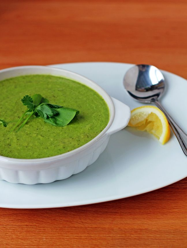 Creamy broccoli and kale soup. The perfect light, healthy, and satisfying meal. (vegan, gluten-free)
