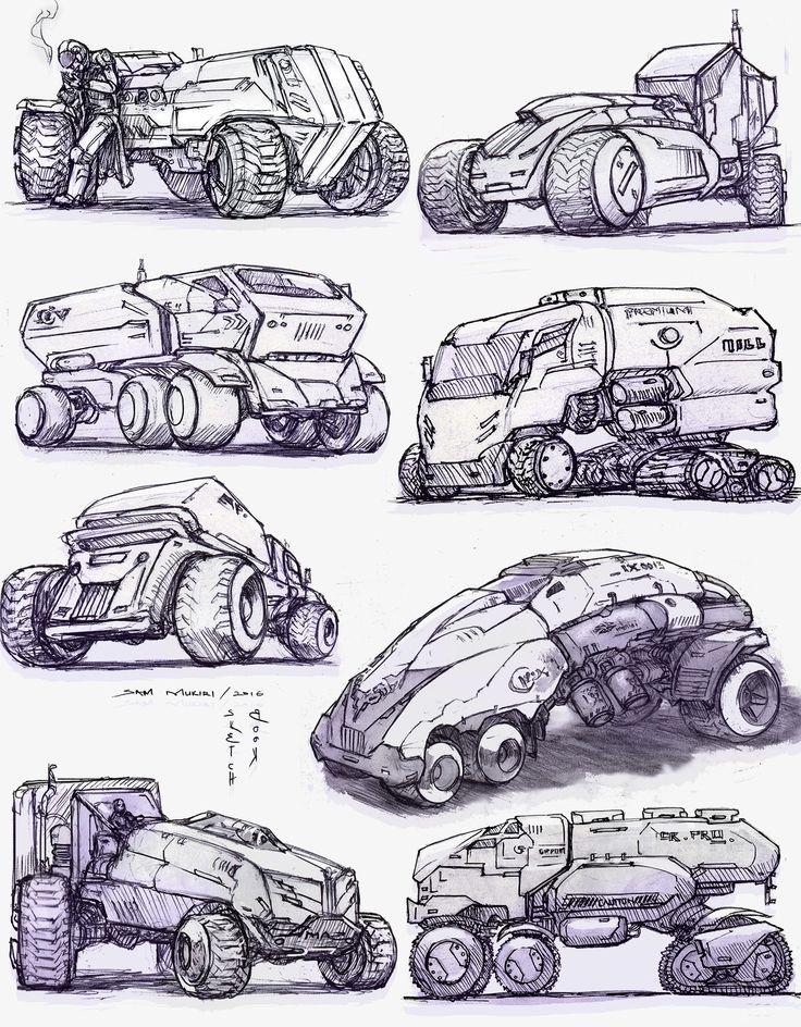 ArtStation - Sketching Vehicles, Sam Muk1r1