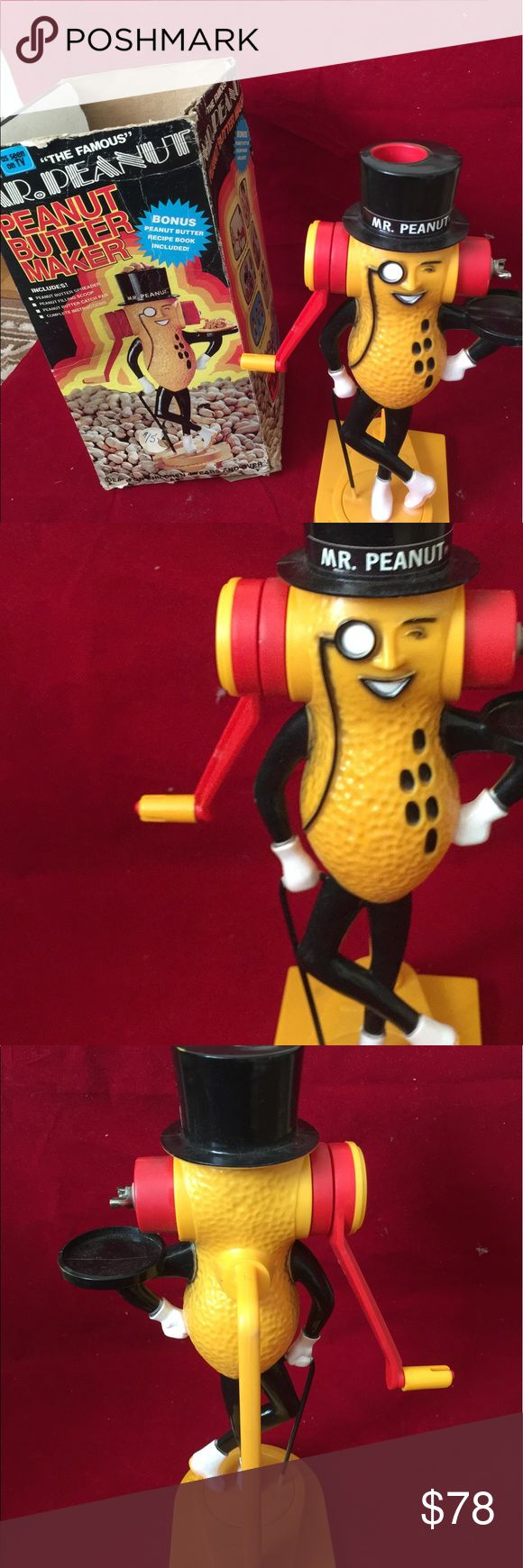 PLANTERS Mr.PEANUT BUTTER MAKER ACTION FIGURE WOOW ORIGINAL PEANUT BUTTER MAKER!1PLANTERS Mr.PEANUT BUTTER MAKER ACTION FIGURE  Actual size.Features all you need are peanuts. Mr Peanut Other
