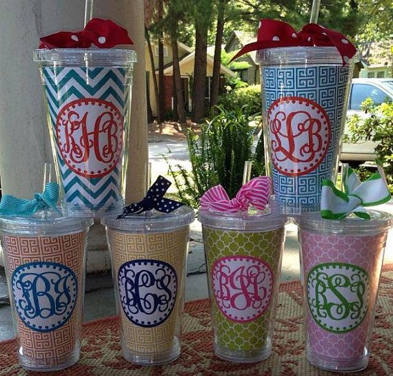 10 best ideas about monogram cups on pinterest