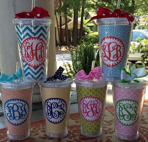 10 best ideas about monogram cups on pinterest