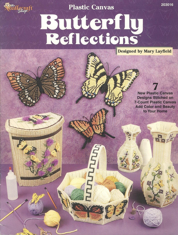 Plastic Canvas Crafts | Butterfly Reflections Plastic Canvas Book by needlecraftsupershop