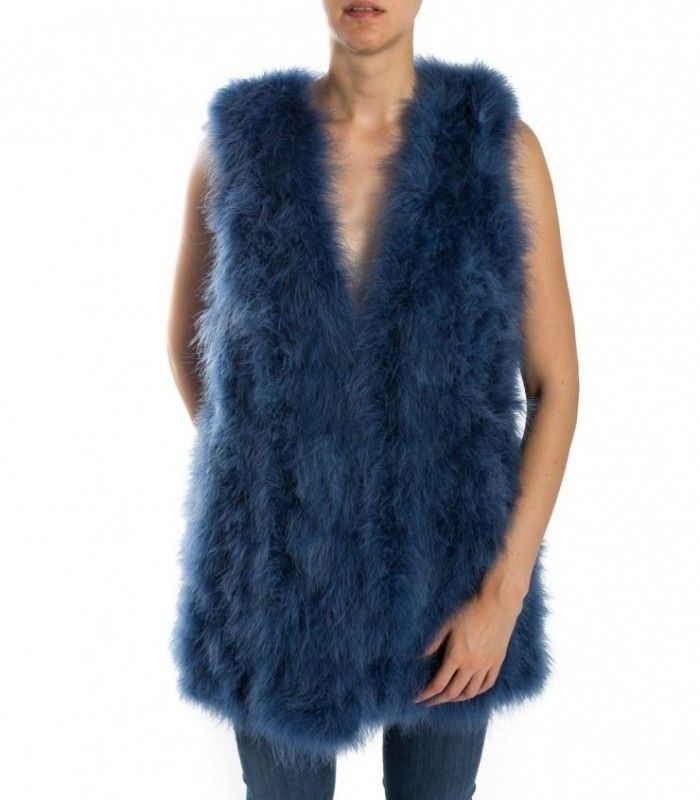 TWINSET faux fur waistcoat anise ta72na