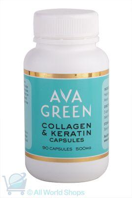 Collagen & Keratin Capsules - Ava Green - 90C | Shop New Zealand NZ$33.90