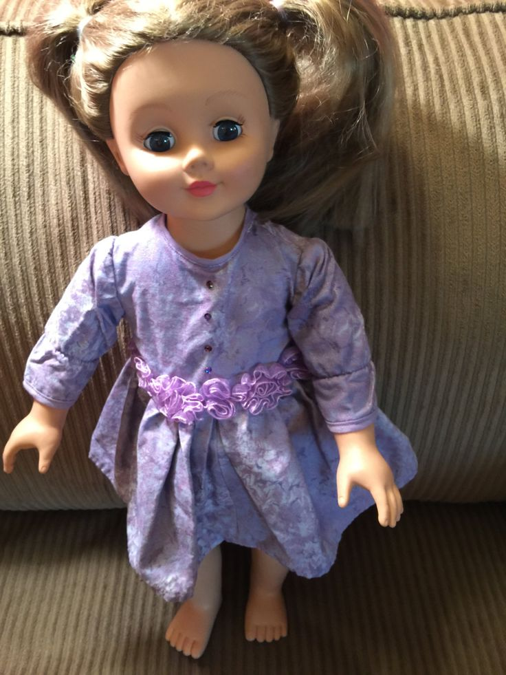 """American Girl Doll Clothes  Fits All  18"""" Dolls, Lavender Party Dress by CreativeCreationsDeb on Etsy"""