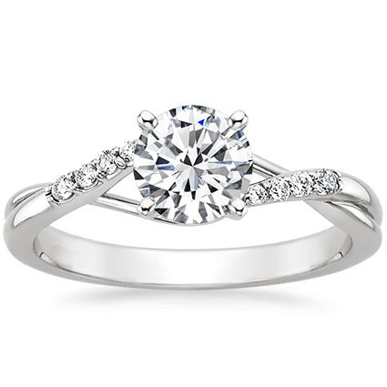 This keeps popping up in my Facebook ads, and I do like it, so why not save? 18K White Gold Chamise Diamond Ring from Brilliant Earth