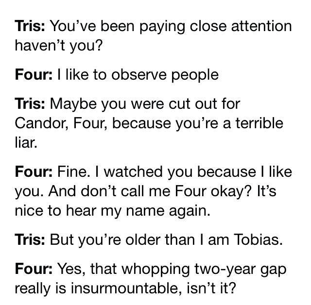 Tris and Tobias. Divergent.