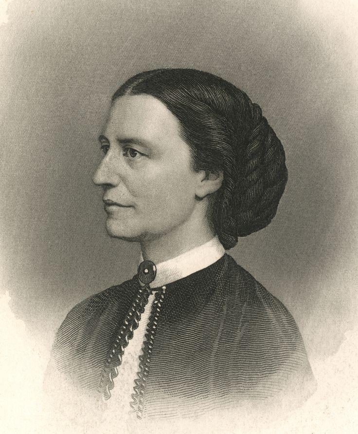 Miss Clara H. Barton. Engraving by John Sartain. New-York Historical Society, 90889d.