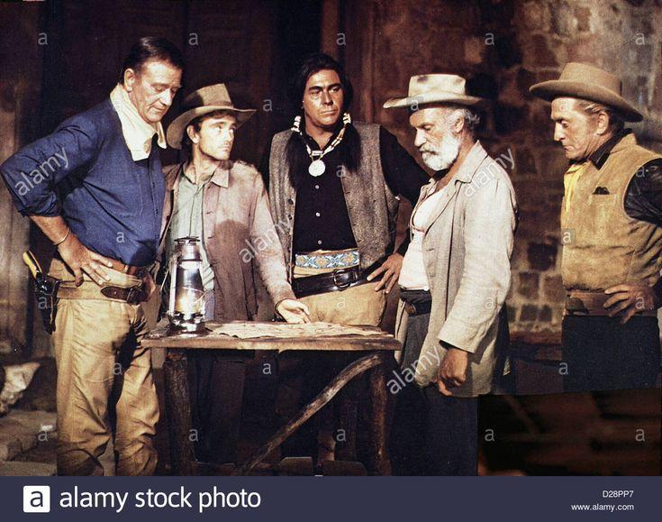 Die Gewaltigen War Wagon, John Wayne, Robert Walker, Howard Keel Stock Photo, Royalty Free Image: 53053903 - Alamy