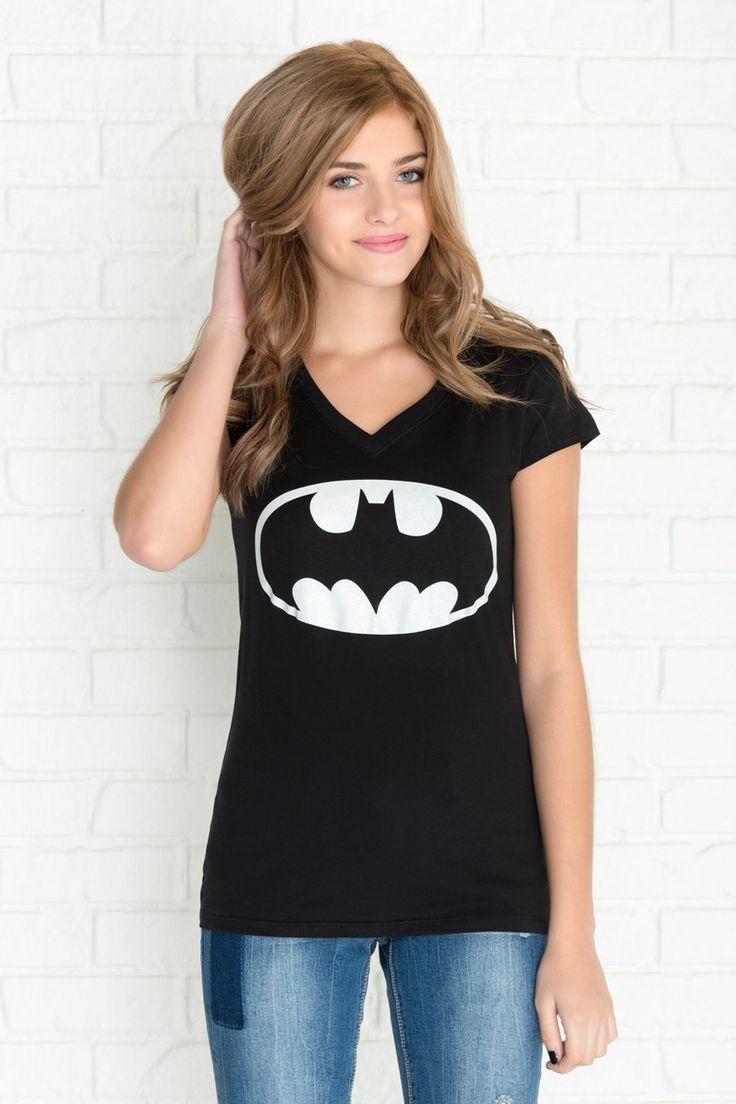 Black Glow in the Dark Batman Logo T-shirt.