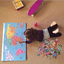 131 Stuks Houten Magnetische Fun Hello Wereldkaart Puzzel Educatief Speelgoed Voor Kinderen 3d Puzzels Montessori Materiaal Houten Speelgoed(China (Mainland))