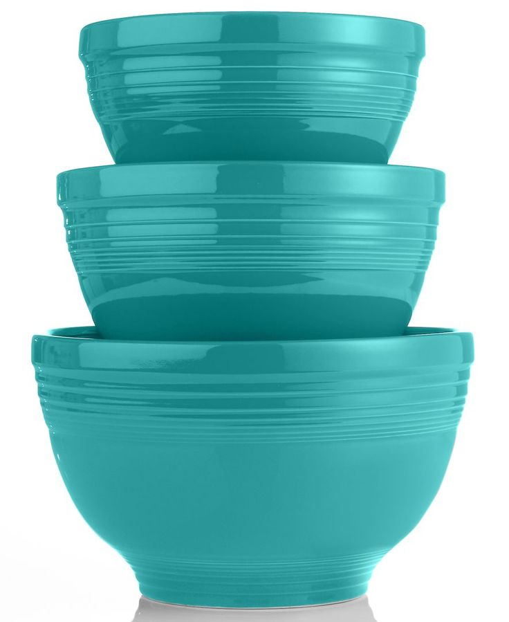 fiesta ware mixing bowls to go with all your super cute fiesta ware #weddingchickspicks #macys #registryitems http://www1.macys.com/shop/wedding-registry/product/fiesta-3-piece-baking-bowl-set?ID=298504&cm_mmc=BRIDAL-_-CARAT-_-n-_-WCPinterest