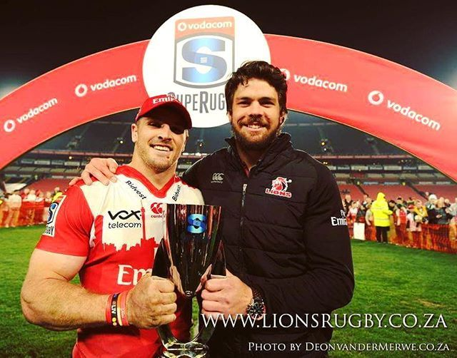Big smiles from two happy captains after the Emirates Lions were awarded Super Rugby Conference Winners!  #Lions4Life #EmiratesLions #SuperRugby #ConferenceWinners #Captains #LionsPride #LionsFamily