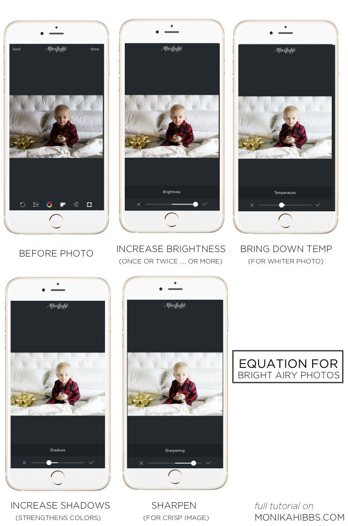 HOW TO GET BRIGHT AND AIRY PHOTOS EDITING APP AFTERLIGHT