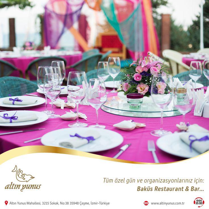 Baküs Restaurant & Bar'ın muhteşem atmosferiyle tüm özel gün ve organizasyonlarınızda da yanınızdayız.