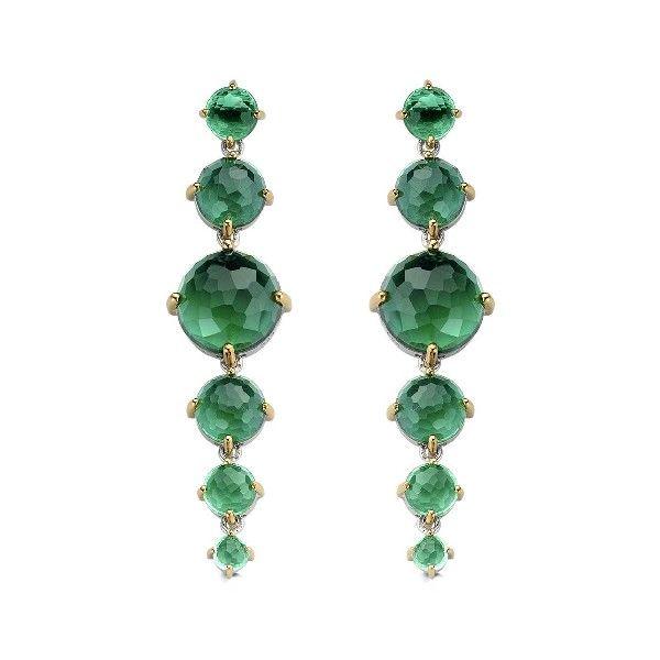 Długie kolczyki z kryształami. #zielony #green #szmaragd #biju www.terpilowski.com.pl