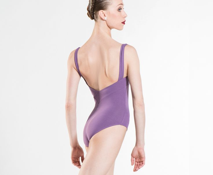 MABEL - Cotton leotard with front pinch and gorgeous V-Back and Wear Moi  signature