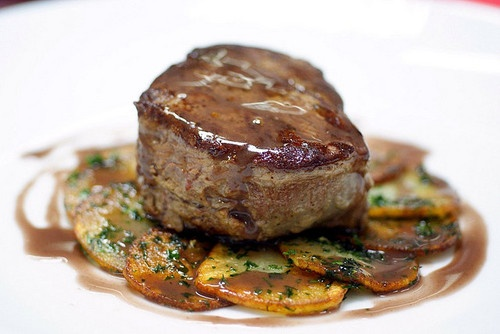 Ivory Lady — fillet steak with red wine sauce by your...