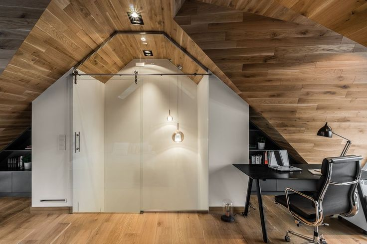 Natural Wood And Black Accents In A Small Attic – The Design Stash
