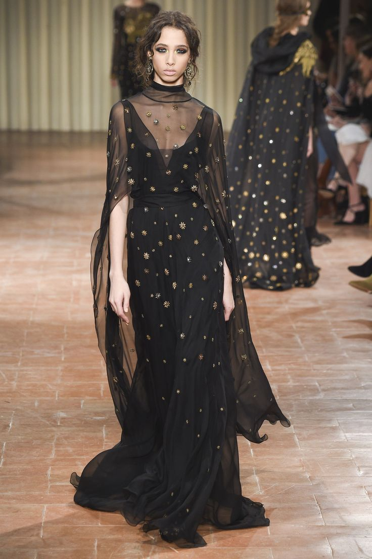 Izzie- love tgis in a more gothic style. Pic: Alberta Ferretti Autumn/Winter 2017 Ready-to-wear Collection