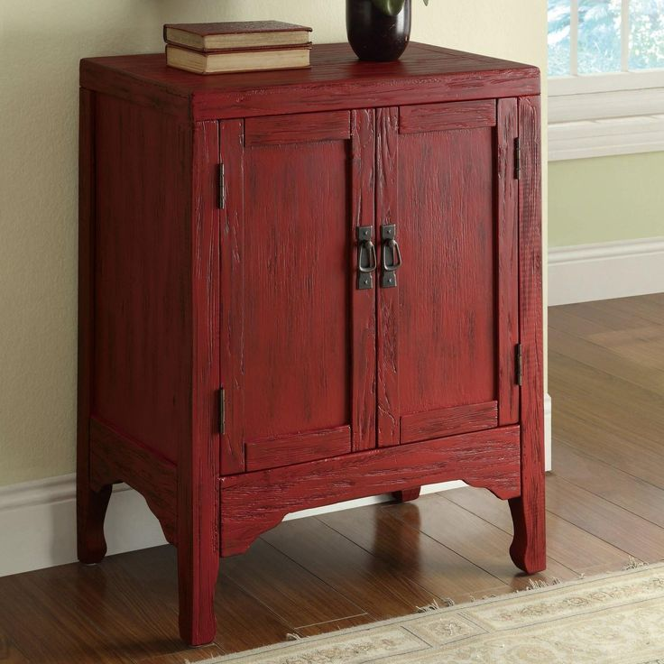 coaster accent cabinets rustic red accent cabinet with 2 doors coaster fine furniture