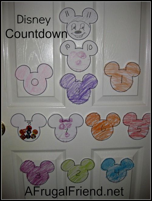 Disney Trip Countdown (DIY) – Create A Memorable One With Your Child www.afrugalfriend.net