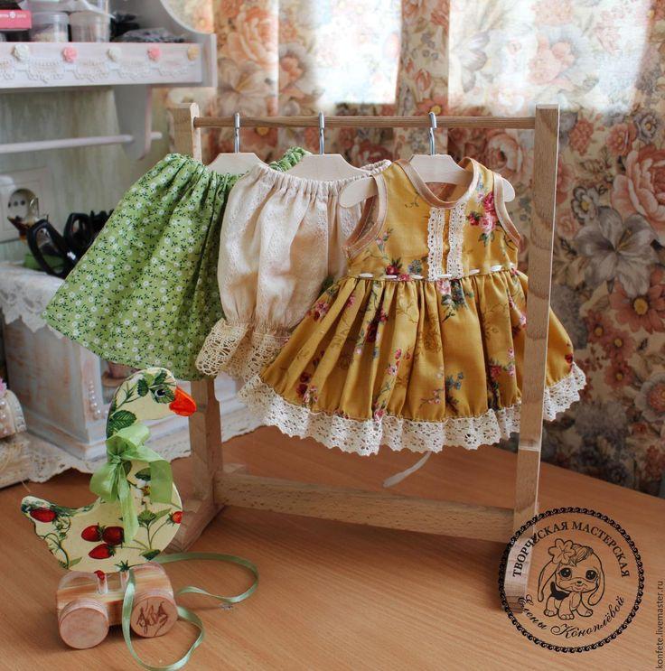 Купить Одежда для кукол. Комплект одежды бохо, шебби шик - оранжевый, одежда для кукол, одежда