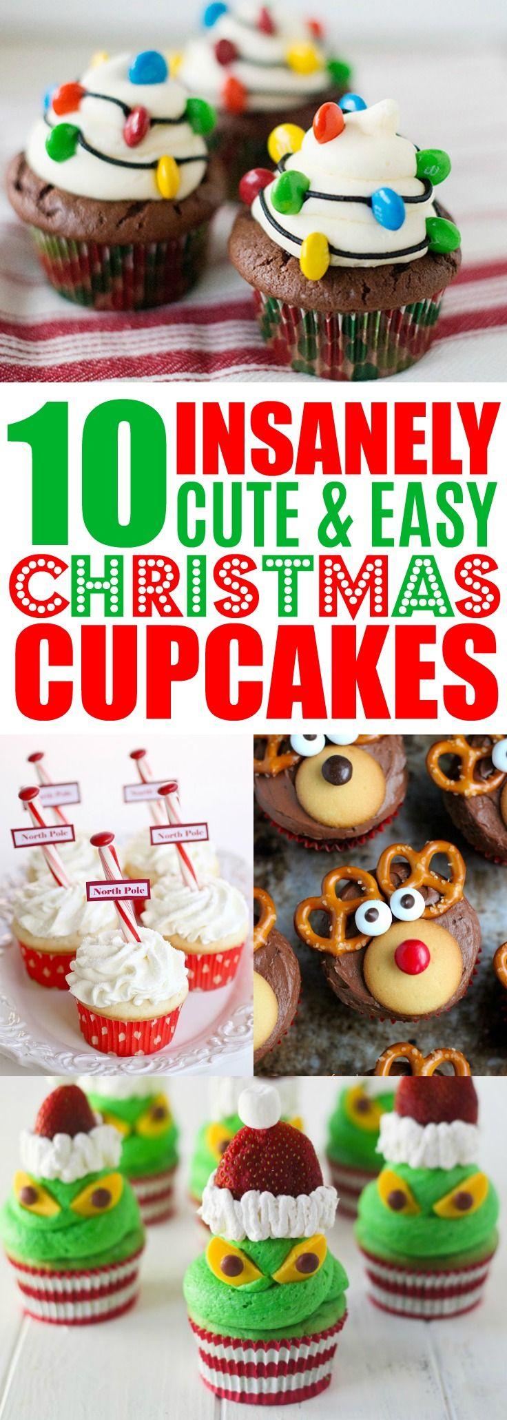 Easy Christmas Cupcake Recipes, Holiday Cupcake Ideas, Decorating Christmas Cupcakes For Kids