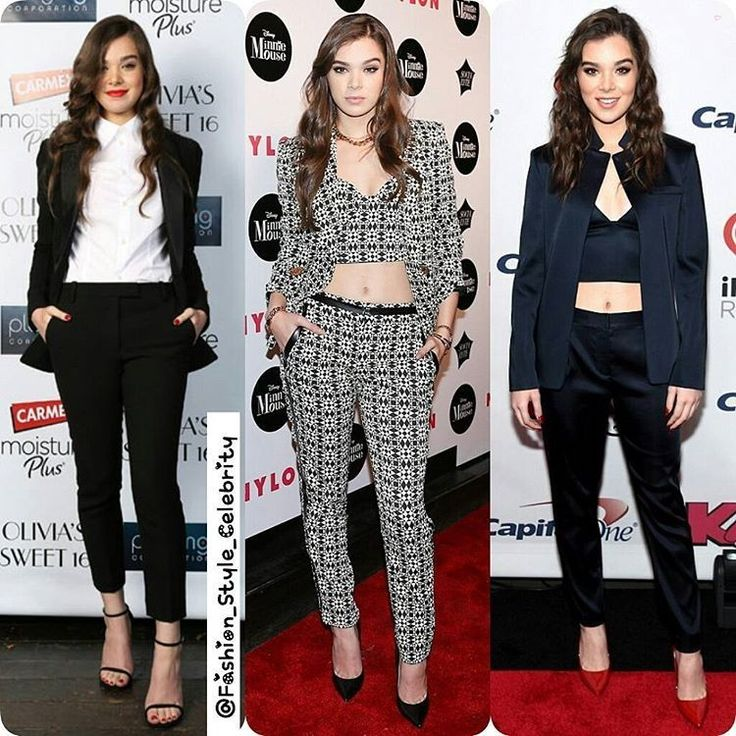 #PantSuit OOTD Ideas From #HaileeSteinfeld#casual #fashionista #black #jeans #boots #spring #summer #dress #suit #suitup #legsfordays #fashion #bodycon #bodycondress #styleicon #monochrome #heels #rockbottom #song #pop #model  #superstar #piercing #supermodel #beauty #makeup... - Celebrity Fashion