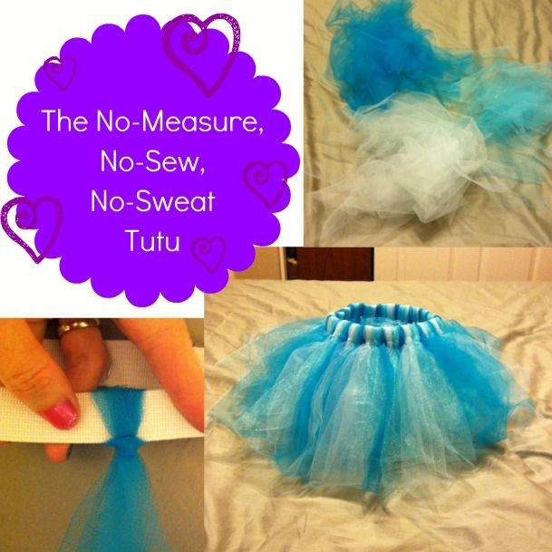 Easy no-sew tutu! I was searching for an easy no-sew tutu tutorial and this is it! I didn't have the option to make a legitimate make-and-sew tutu not only because I don't own a sewing machine but because I can't sew... I ended up making two, one was an adult size and the other would equal to be a small in juniors. I think I ended up using 12 yards??? I don't remember now, that's why I need to make my notes while it's still fresh...