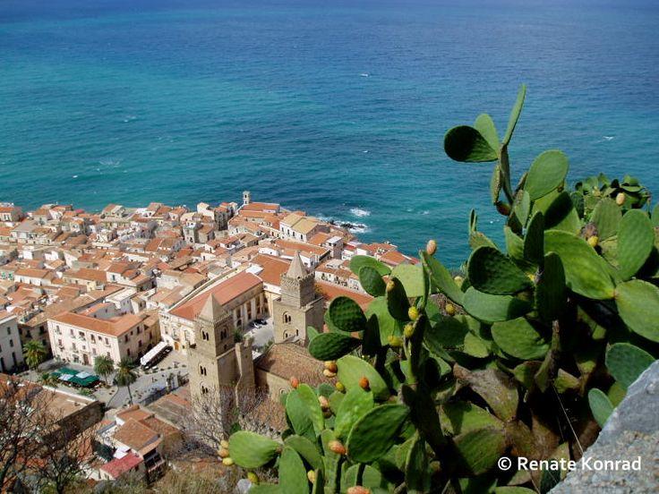 Cefalu (Nord-Sizilien) > Flughafen Palermo > bei Sonne unbedingt den Rocca besteigen