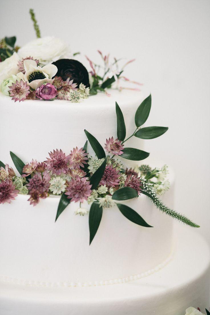 Mauve Green Wedding Cake