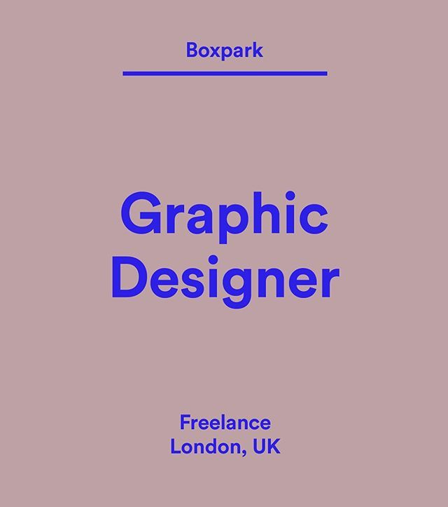 Wethemakersjobs Boxpark Is Recruiting For A Talented Freelance Graphic Designer To Be Part Of Their Growing Team For A Minimum Of 3 Months With The Option