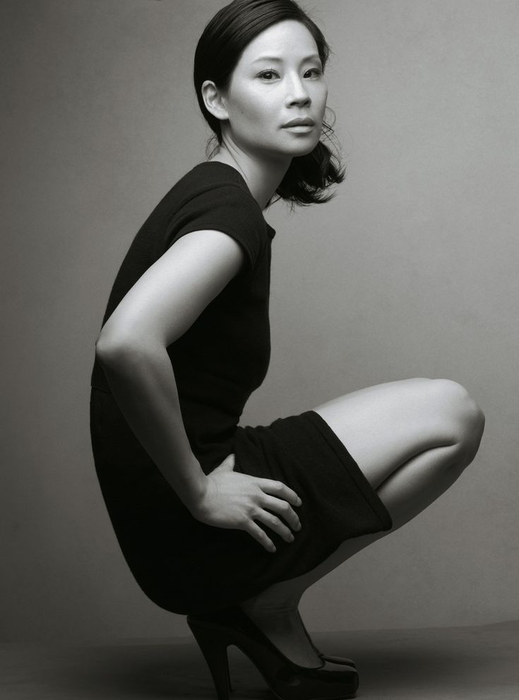 "Photograph of {Lucy Liu} by Annie Leibovitz for the Fall 2007 Gap Ad Campaign, ""Classics Redefined"""