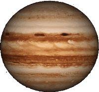 Planeta Júpiter girando